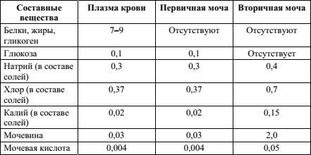 Ответ на 30 задание ОГЭ 2018 по биологии из демоверсии - таблица