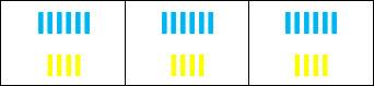 У маленького Лёши есть 18 синих и 12 жёлтых палочек - 3 кучки