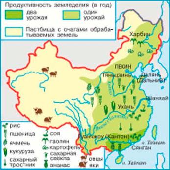 Использование земель в сельском хозяйстве Китая