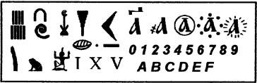 Знаки, используемые для записи чисел в различных системах счисления
