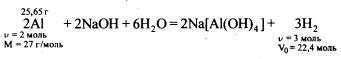 Уравнение реакции