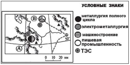 Промышленные центры на карте