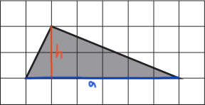 Выстоа и основание треугольника